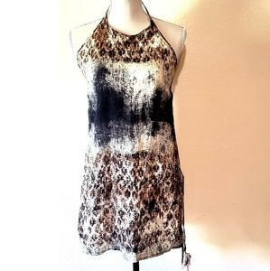 Zara Basic Linen Halter Tunic size S